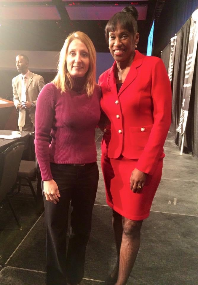 Meeting Jackie Joyner-Kersee at a Martin Luther King Prayer Breakfast.